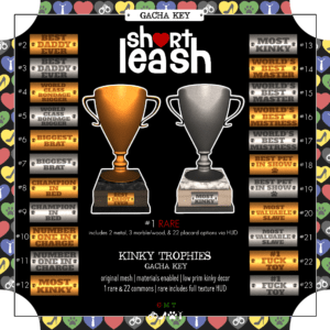 Short Leash Kinky Trophies gacha key 2