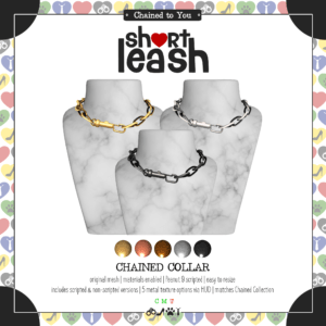 Short Leash Chained Collar ad