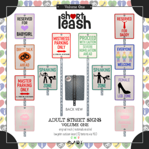 Short Leash Adult Street Signs Vol 1 ad