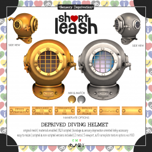 Short Leash Deprived Diving Helmet ad