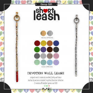 Short Leash Devotion Wall Leash ad