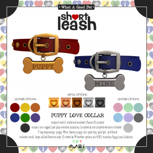 Short Leash Puppy Love Collar ad