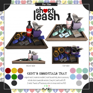 Short Leash Gents Essentials Tray ad
