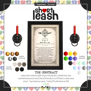 Short Leash The Contract ad