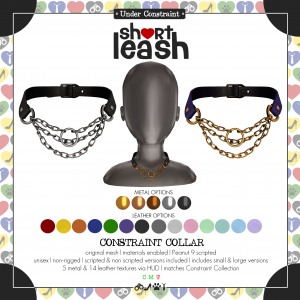 Short Leash Constraint Collar ad