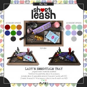 Short Leash Ladys Essentials Tray ad