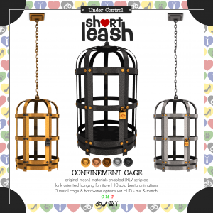 Short Leash Confinement Cage ad