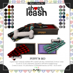 Short Leash Puppys Bed ad