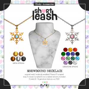 Short Leash Snowbound Necklace ad