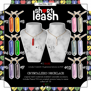 Short Leash Crystalized Necklace gacha key