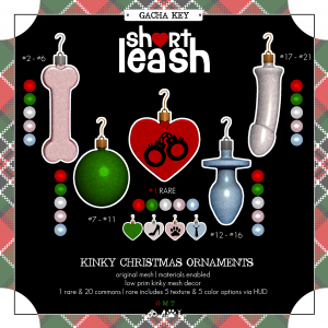 Short Leash Kinky Christmas Ornament gacha key