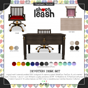 Short Leash Devotion Desk Set ad