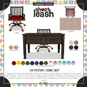 Short Leash Devotion Desk Set ad