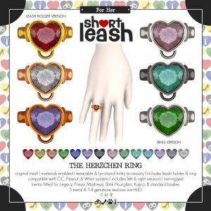 Short Leash The Herzschen Ring ad