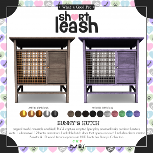 Short Leash Bunnys Hutch ad
