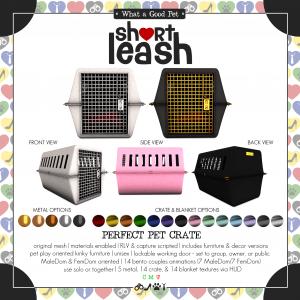 Short Leash Perfect Pet Crate ad