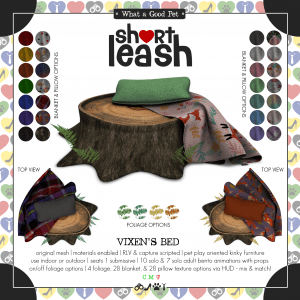 Short Leash Vixens Bed ad