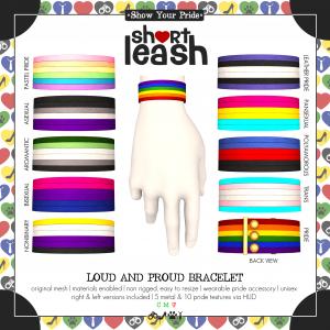 Short Leash Loud & Proud Bracelet ad