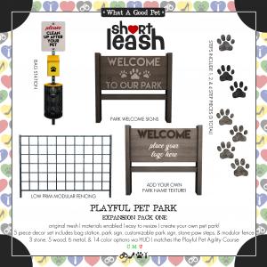 Short Leash Playful Pet Park Expansion Pack One ad
